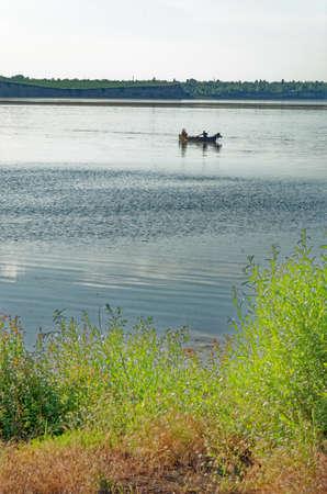 Fishing on Dorobantu Lake in Calarasi, Romania - 28th of June 2011 Standard-Bild