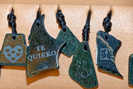 Typical guatemalan handmade jewelry souvenir - earrings. Antigua - Guatemala. 24th of March 2011 Editorial