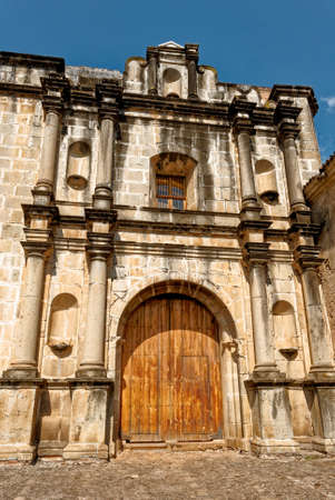 Exterior of Las Capuchinas, 18th-century church & convent ruins, in colonial city & UNESCO World Heritage Site of Antigua - Antigua, Guatemala - 24th of March 2011