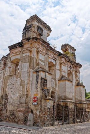 Ruins of the Iglesia de El Carmen church in Antigua, Guatemala, destroyed by an earthquake. 24th of March 2011