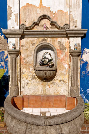 Old water fountain in a courtyard - Antigua, Guatemala - 24th of March 2011