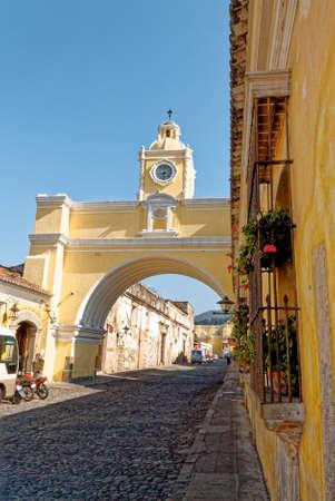 The Santa Catalina Arch On 5th Avenue In La Antigua Guatemala - Central America - 24th of March 2011