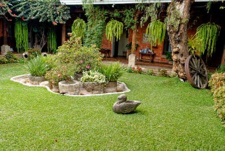 Typical Colonial garden - Jardin de Posada de Don Rodrigo, Antigua, Guatemala - 24th of March 2011