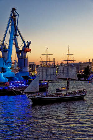 Germany - Hamburg Port Celebrates 823rd Birthday - Festival with a party and ships parade - Celebrations and events. 18th of August 2012 Editorial