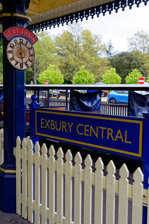 Exbury Central Station - Exbury Gardens Railway which runs for 1.25 miles round the northern part of the these spectacular gardens in Hampshire, England - 20th of May 2021 Editorial