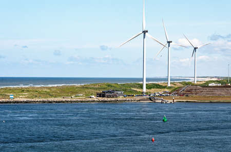 Offshore wind farm, Ijmuiden, North Sea, Netherlands - 4th of March 2012
