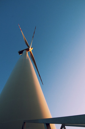 watts: the image of windmill for the day Stock Photo