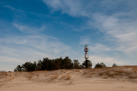 distributing: Telecommunications tower on the beach