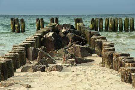 breakwater: Beautiful beach, sea and breakwater