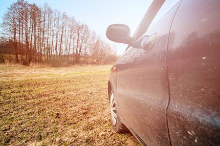 dirty car: dirty car door