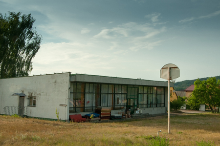 abandoned: Old abandoned basketball court