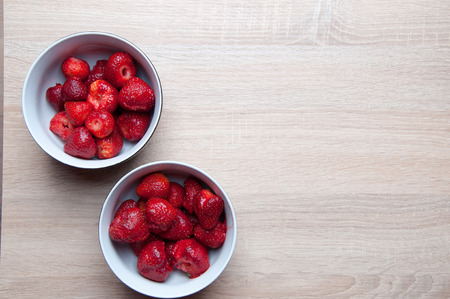 antik: Strawberries in a bowl ready to eat Stock Photo