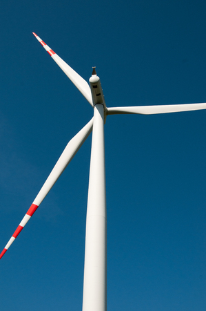 wind force wheel: Wind turbines on blue sky