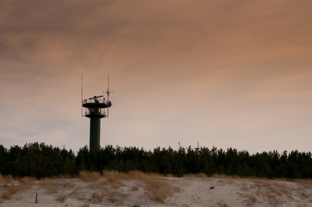 unsightly: Telecommunications tower on the beach