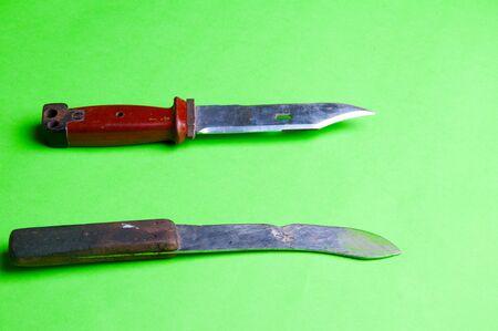 venganza: La imagen del cuchillo en el fondo unting agreen.
