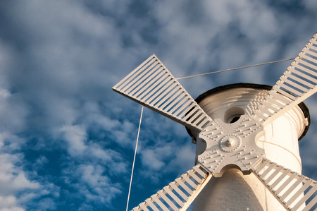 Lighthouse windmill Stawa Mlyny in Swinoujscie, Baltic Sea, Poland.