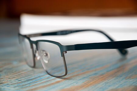 books and glasses. Stock Photo