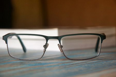 books and glasses. Banque d'images