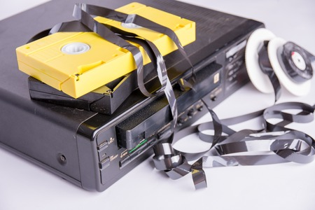 player wrapped a tape from a damaged cartridge