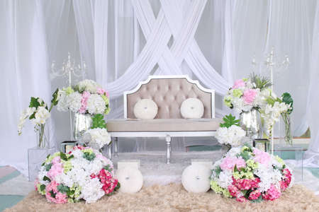 Beautiful decoration setup for wedding ceremony