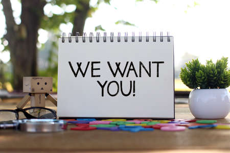 We want you, business concept Banco de Imagens