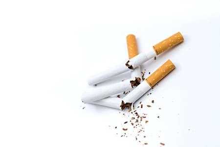 broken cigarette Stockfoto
