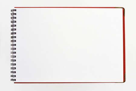 Blank notebook  isolated on white background Stock Photo