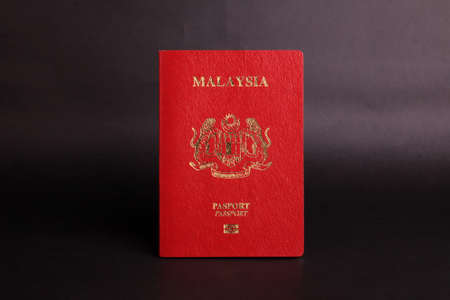 Red Malaysian passport 写真素材