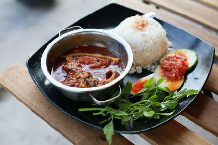 Traditionelle malaiische Speisen, Asam Pedas Johor Standard-Bild