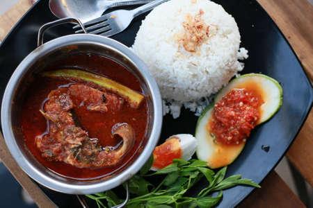 Asian traditional food Asam Pedas Standard-Bild
