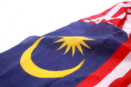 Malaysia Flag on white background