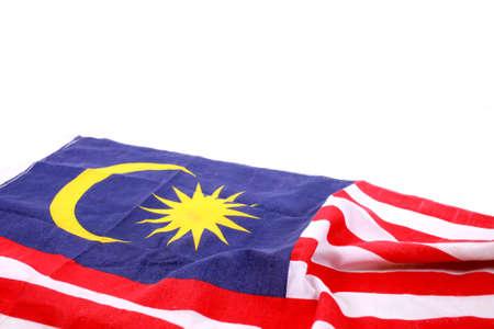 Malaysia Flag on white background Stock Photo