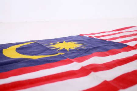 Fabric texture flag of malaysia