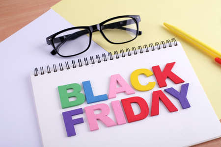BLACK FRIDAY word concept writing by by wooden block