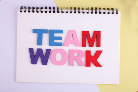 TEAM WORK word concept writing by by wooden block Imagens