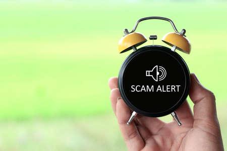 Scam Alert idea concept