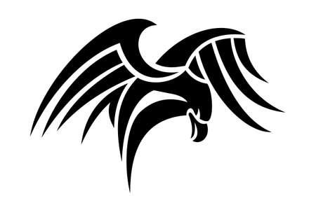 tribal eagle tattoo dsign Illustration