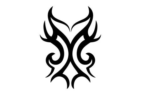 tribal abstract face tattoo dsign Illustration