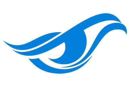 icono de logotipo de águila de ojo abstracto