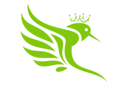 king hummingbird logo vector icon 写真素材 - 101382513