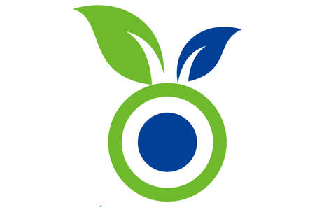 letter o plant nature leaves logo icon Ilustração