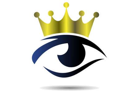 king eyes vector symbol design logo icon Illustration