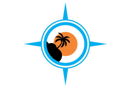island compass vacation logo icon