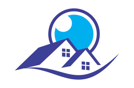 real estate vision home residence logo icon