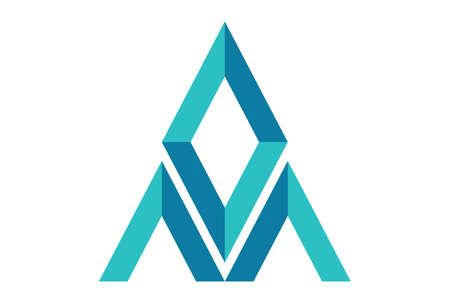 abstract letter A diamond mountain logo icon