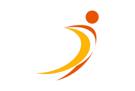 letter i sport man logo icon
