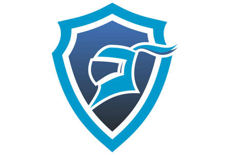 abstract harness shield guard protection logo icon