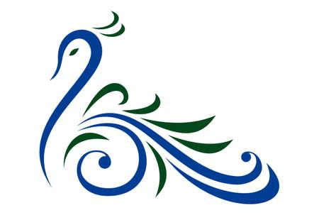abstract peacock graphic logo icon vector