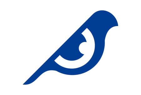 eye abstract bird vision logo icon