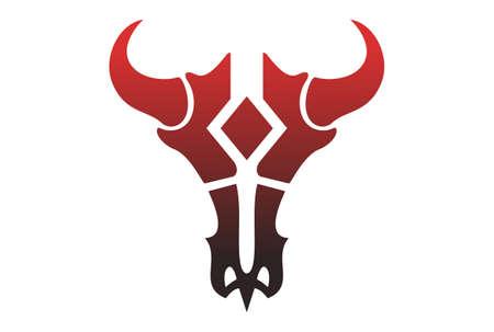 bull skull  icon design vector Illustration